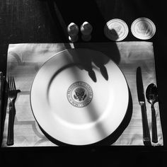 Picture of the President's place setting