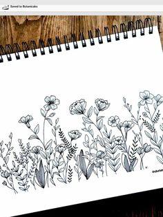 garden drawing 37 Ideas flowers drawing doodles inspiration zen tangles for 2019 Botanical Line Drawing, Floral Drawing, Nature Drawing, Plant Drawing, Drawing Drawing, Flower Sketches, Art Drawings Sketches, Sketch Art, Flower Garden Drawing