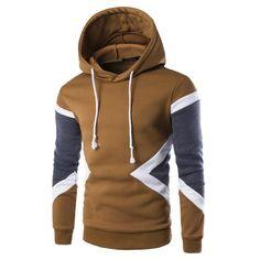 Mens Hoodies Spring Autumn Casual Tracksuit Male Hooded Sweatshirt Men Brand Clothing O-neck Patchwork Hoodies Men Streetwear #fashionhoodiemens