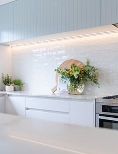 This Auckland kitchen was the Kitchen Awards winner for its clever use of materials. See inside the award-winning space with it's inspired blue cabinets. Kitchen Benchtops, Modern Kitchen Cabinets, Kitchen Furniture, New Kitchen, Diy Kitchen Decor, Kitchen Interior, Kitchen Design, Kitchen Ideas, Interior Modern