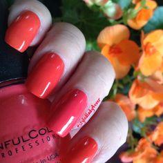 Pretty Summer Nails  Pulse Point #nailtek & Thimbleberry #sinfulcolors