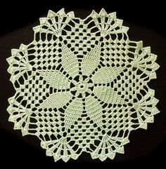 Bright green handmade doily No.57 by DoiliesLaceCrafts on Etsy