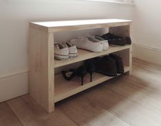 Solid Wooden Shoe Rack Storage Upcycled Scaffold Board Furniture Bench …