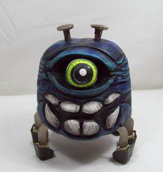 Halloween Purple Spider One Eye Jack Steampunk Wood by llacarve, $50.00