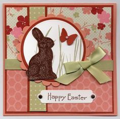 "Happy Easter ""Chocolate"" Bunny Card...by lvogt-Cards and Paper Crafts at Splitcoaststampers."