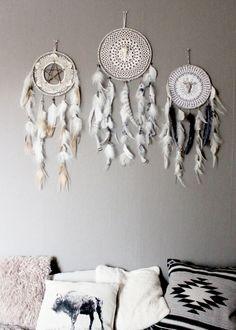Frozen Magic Dreamcatcher White & Gray and by BoudoirDuChaman