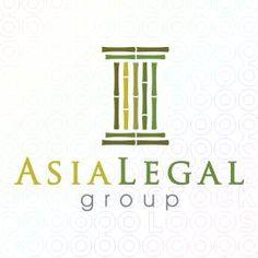 Creative Bamboo Pillar Logo Design For Sale On StockLogos | Asia Legal Group logo