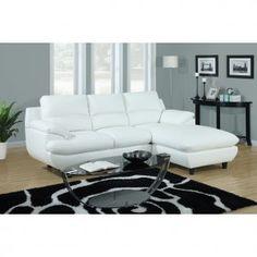 White Vinyl Sectional Sofa