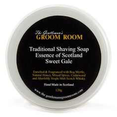The Gentleman's Groom Room Traditional Shaving Soap Essence of Scotland, Sweet Gale