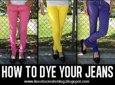iLoveToCreate Blog: Dye your Denim Jeans DIY Video Tutorial: