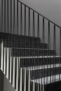 --- interesting railing for any balcony or stairway. You can see how easy it is t © João Morgado-- stairs.--- interesting railing for any balcony or stairway. You can see how easy it is to do, rather than straight verticals. Metal Stair Railing, Stair Handrail, Staircase Railings, Stairways, Banisters, Metal Handrails, Iron Railings, Interior Staircase, Staircase Design