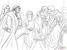 jesus in the temple as a boy coloring page - Google Search