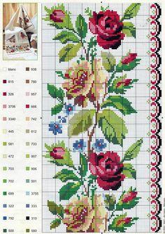 цветочные бордюры вышивка - Поиск в Google