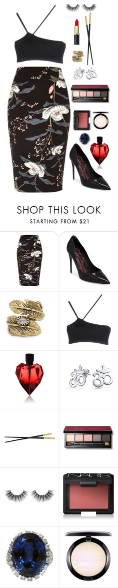 """""""camellia"""" by aabelyea43 ❤ liked on Polyvore featuring River Island, Dolce&Gabbana, Natalie B, Helmut Lang, Bling Jewelry, Versace, Bobbi Brown Cosmetics, Velour Lashes, NARS Cosmetics and MAC Cosmetics"""
