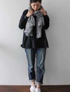 [Envelope Online Shop] Echarpe gauze・check Lisette Accessories