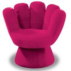 Amazon.com - LumiSource Plush Mitt Chair, Hot Pink - Cool Room Decor For Teens