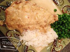 Light Cream Cheese Chicken recipe- Dinner #freezercooking #chicken #diet