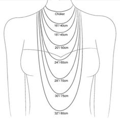 necklace lengths cm Gallery