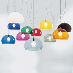 Small FL/Y hanglamp Kartell geel | Musthaves verzendt gratis