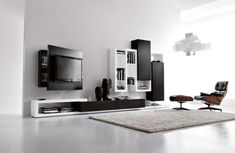Modern entertainment center and TV stand mount.