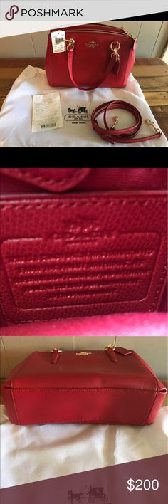 Red Leather Coach Satchel Brand new never been used. Coach Bags Satchels