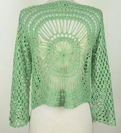 Aris A: Hairpin Crochet Bolero Jacket, Back