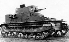 "Medium Tank Mk.I CS with a 3.7"" (94 mm) howitzer. In a way, this was the precursor of the German Pz.Kpfw. IV"