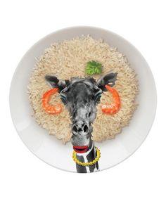 Look at this #zulilyfind! Giraffe Wild Dining Party Plate by Mustard, $10 !!   #zulilyfinds