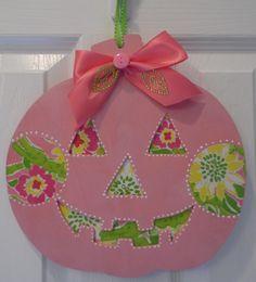 Lilly Pulitzer pumpkin halloween decoration
