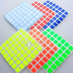 Half Bright Z Stickers for 78mm 7x7x7 AoFu Magic Cube
