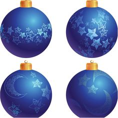 Stars and moons instead of snowflakes. Christmas Poster, Blue Christmas, Christmas Balls, Christmas Tree, Christmas Ornaments, Free Vector Graphics, Star Patterns, Xmas Cards, Stars And Moon