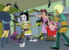 A guide listing the titles and air dates for episodes of the TV series Drawn Together. Cartoon Posters, Cartoon Games, Mexican Standoff, Drawn Together, Dark Eldar, Animated Cartoons, Betty Boop, Warhammer 40k, Hilarious