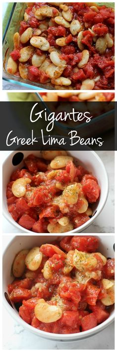 Gigantes is a Greek Lima Bean dish that uses giant butter beans for a satisfying vegetarian main dish or side dish! It's gluten free, vegan, and packed with protein and fiber!