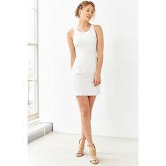 Kimchi Blue Ponte Lace-Skirt Mini Dress ($79) ❤ liked on Polyvore