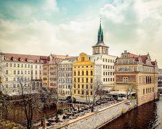 Prague, Czech Republic, Old Town, Europe Photography, City Photography, Prague Photography, Fine Art Photography, Aqua Sky, Beige Tones - pinned by pin4etsy.com