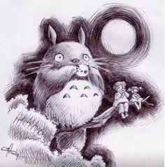 Totoro fanart by mangoes. Source: http://mangoes.deviantart.com/