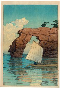 Zaimoku Island, Matsushima by Kawase Hasui