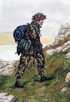 British; Welsh Guards, Guardsman, Falklands 1982