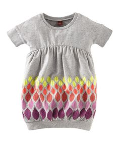 Heather Gray Colors of Autumn Dress - Toddler & Girls by Tea Collection on #zulily today!