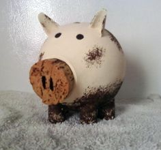 A Piggy Bank gourd I made. Gourd Art, Gourds, Piggy Bank, Pumpkins, Piggy Banks, Squashes