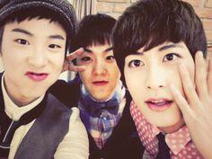 P.O, Taeil, Jaehyo from block b
