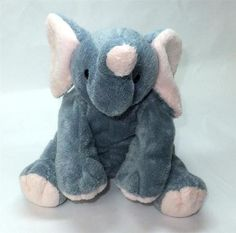 2002 Ty Pluffies WINKS Gray Pink Elephant Plush Stuffed Beanie Baby Wild  Animal Ty Animals aa738ccb1867
