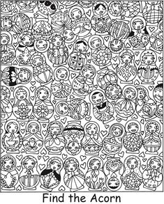 SPARK Garden Daze Find It! Color It! -- 5 coloring pages with answers