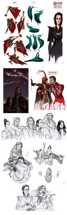 Thor sketchdump by *Phobs on deviantART  That last image kills me!!