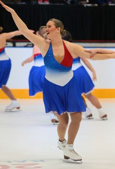 Red, white and blue skating dress