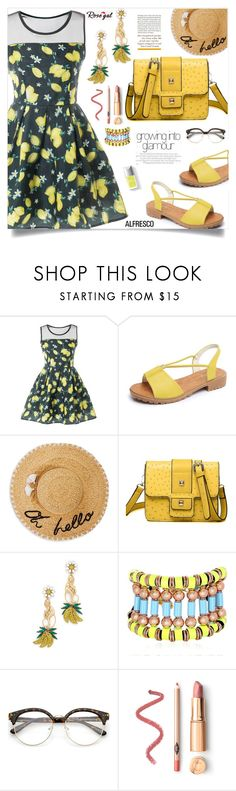 """""""Lemon print!"""" by samra-bv ❤ liked on Polyvore featuring Kate Spade, Elizabeth Cole, Nocturne, Couture Colour, ootd, casualoutfit, CasualChic and alfrescodining"""