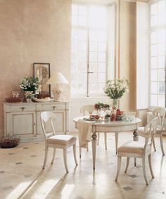 awesome cream round dining table picture
