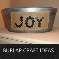 a collection of burlap craft ideas