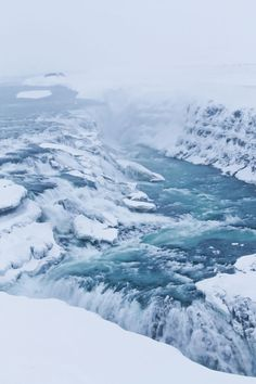 How about that!  #Iceland in winter.  Amazing Gullfoss.