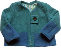 Toddler upcycled felted wool jacket size 12-24 months by Tularoo